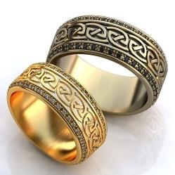 d44379f09de9 Обручальные кольца Флоренция с эмалью FT-07491, белое золото 585 ...
