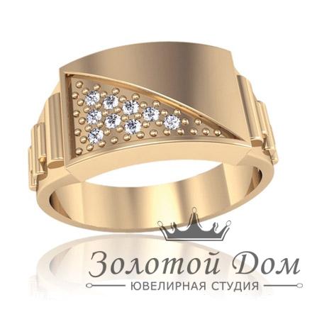 Описание: Мужской перстень с красным