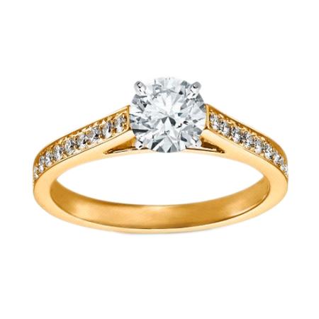 Кольцо для помолвки с бриллиантами DVI-2, золото 585 пробы, 2.5 гр ... d8d7403e1b1