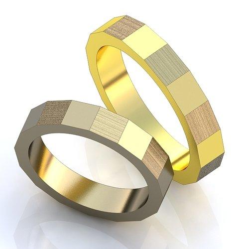 Обручальные кольца Кубические YJ015, белое золото 585 пробы, 3.8 гр ... cbe415e9ab3