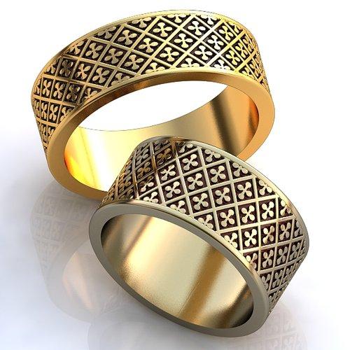 Широкие женские обручальные кольца и цены