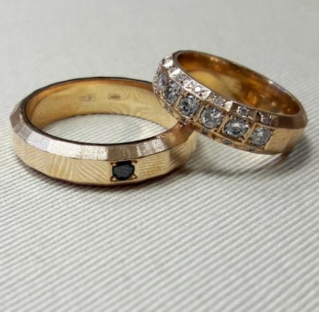 Обручальные кольца Граненые YJ013, белое золото 585 пробы, 6 гр ... d5943daa86e