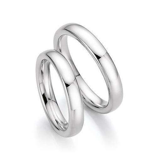 49a20e55cc3d Обручальные кольца гладкие FT-04401, белое золото 585 пробы, 4.16 гр ...